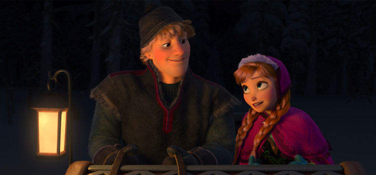 Q 3. WHO DID KRISTOFF GROW UP WITH?